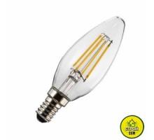 Лампа (4W) Biom FL-305 C37 4W Свечка прозр.
