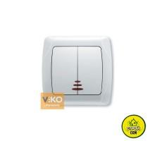 Выключатель Viko с подсветкой 2кл