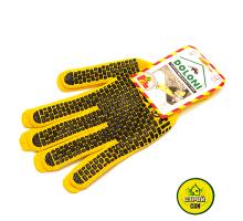 Перчатки  №4078 жёлтые в кирпичик
