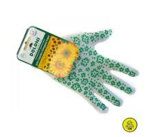 Перчатки Doloni №620 белые с зел.цветами
