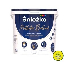 Краска Sniezka Mattlatex Brilliant (5л/6,8кг)
