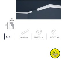 Марбет карниз LUX E-2 (2м)