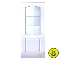 Дверь МДФ белая с матовым стеклом (70см)