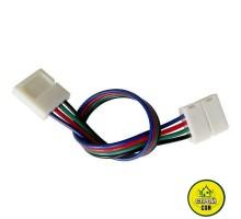Коннектор 10мм зажим-провод 4pin(RGB) №8