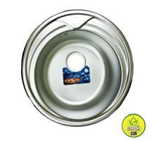Мийка кругла врізна 7109 (510х180) Decor