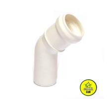Колено 32/45  канализация белый